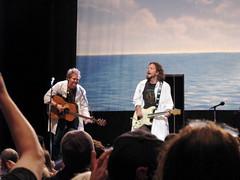Eddie Vedder & Glen Hansard (riotonsunset) Tags: seattle summer music concert tour ukulele live solo wa benaroyahall songs eddievedder glenhansard 2011