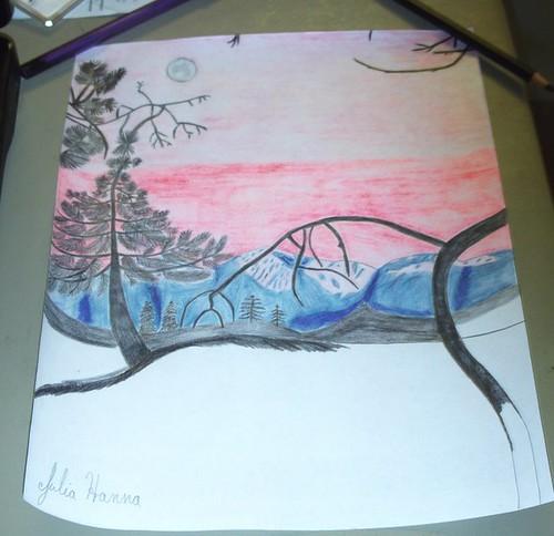 Forest Sunset Sketch Part 8