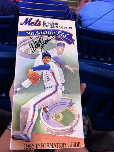 Before the #bmets game, I got Wally Backman to sign the 1986 media guide Nik got me.