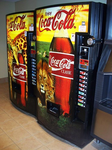 Lion Coca Cola Machine by The Upstairs Room