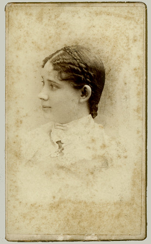 CDV woman with braids hs