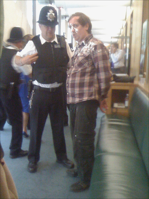 'Jonnie Marbles' getting handcuffed