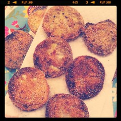 Zac's fried green tomatoes :) first time to ever make them at home (for me)
