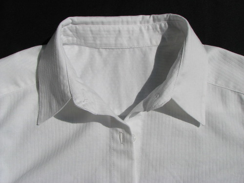 White shirt - collar and stand