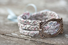 floral plaited bracelet with vintage buckle (DearestJackdaw) Tags: home floral beautiful shop vintage handmade pastel cottage style wrap jewelry pale jewellery homemade fabric boutique bracelet buy ribbon chic decor buckle braid reclaimed plait shabby shabbychic reloved louiseknight jackdawboutique dearestjackdaw whatthejackdawsaw dearjackdaw