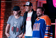 jason mewes, zachary levi, and kevin smith