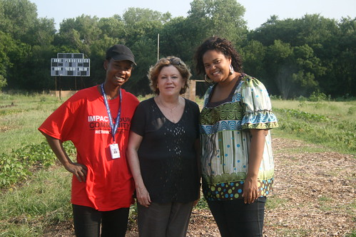 Pictured, from left to right: student Barbara Clark Franklin; USDA Risk Management Agency Associate Administrator Barbara Leach; and Elizabeth Wattley, Director of Servant Leadership at Paul Quinn College
