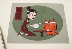 samurai kitten giclee prints available (robolove3000) Tags: anime cute feet cup japan wisconsin danger cat print skull weird kitten tea cartoon canvas barefoot teapot samurai poison cleavage stoughton giclee ducksoupsigns 6088737341