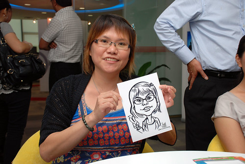 Caricature live sketching for Ricoh Roadshow - 34