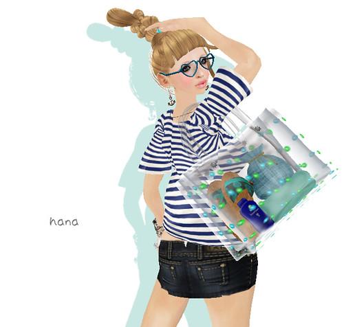 *.:[K]:.* vinyl bag (blue) Free