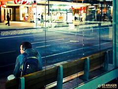 Night Bus Stop (Ed Kruger) Tags: street city windows newzealand architecture night buildings cityscape busstop auckland nz northisland streetphoto nightphoto kiwi aotearoa allrightsreserved admiralty cityscene photocity newzealandphoto earthasia edkruger photoofnewzealand abaconda qfse streetphotoofnewzealand