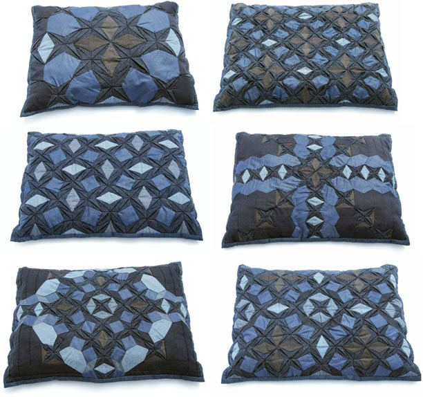 Julie Floersch. Indigo Pillows.