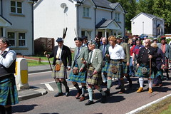 Clan MacLaren during parade - Lochearnhead Games 23 July, 2011