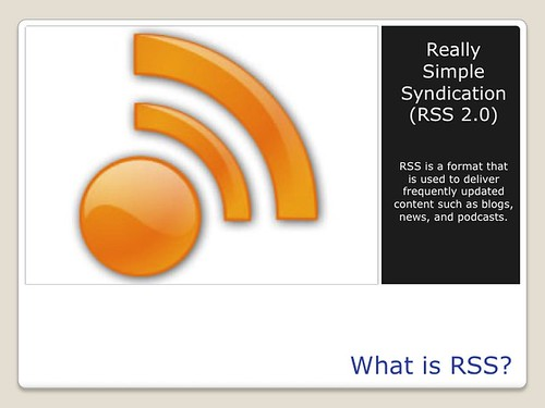 Blogging Tools - What is RSS