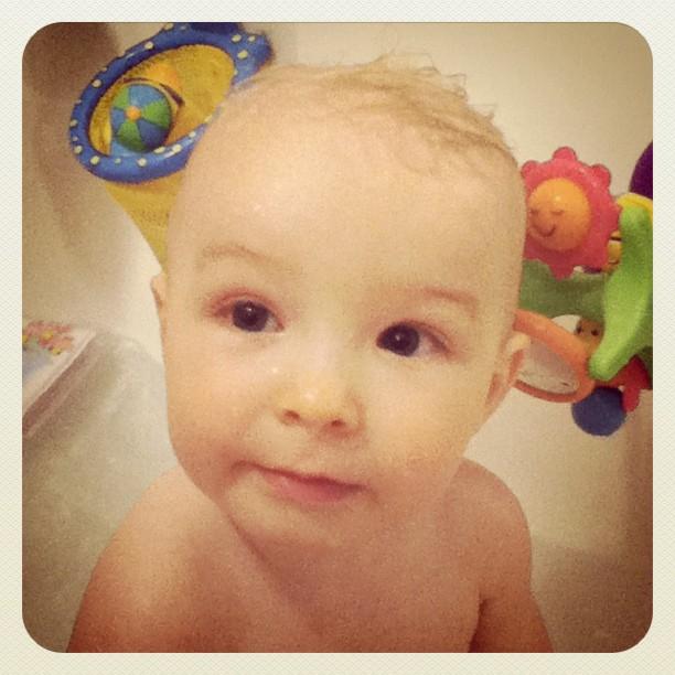 Bath time is always so much fun!