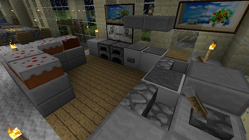 full modern kitchen by deadalready on flickr - Minecraft Design Ideas