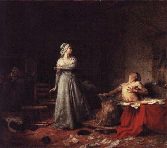 Santiago Rebull, La Mort de Marat (1875)