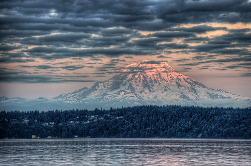 [免费图片] 自然・景观, 山, 日落, 美國, HDR, 201107311300