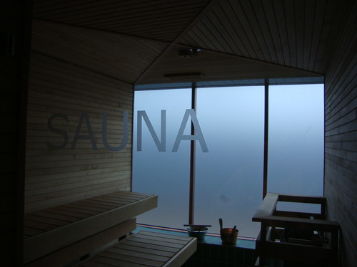 I decided the make use of our down time and use the Sauna and Steam room: