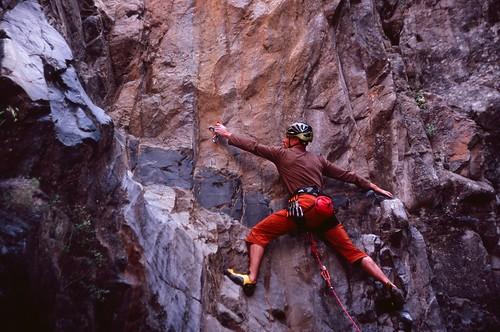 Greg Climbing