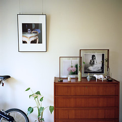 Chest in the 70's* (miki**) Tags: wood green 120 bicycle thanks denmark woodwork chest frame 70s mylife rolleiflex35f nicoscosmos rollei