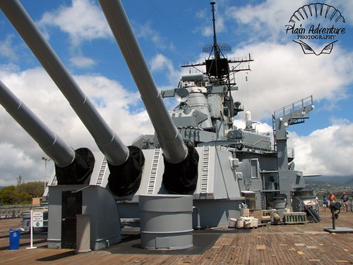 USS Missouri's Big Guns