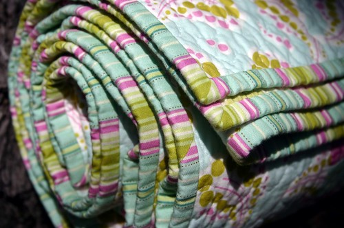 Quilting Diva's Bee Quilt - rolled