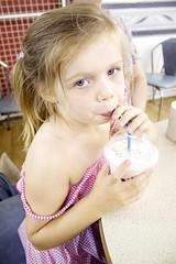 Aimee drinks a Shmoo