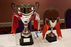 Two Trophies (Official Manchester Phoenix Photography) Tags: ice hockey trophy trophies manchesterphoenix richardallan shirtlaunch epihl officialmanchesterphoenix