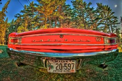 CHEVELLE SS 396 (Mberryphotos) Tags: trees summer nikon raw maine fisheye hdr 2011 mberry hdrimage d700 michaelberry mikeberry mberryphotoscom mberryphotos