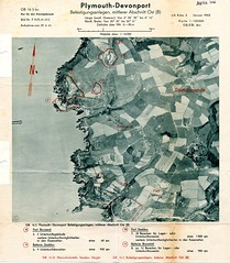 Bovisand and Staddon : Jan 1942 (Plymouth History) Tags: cornwall map aircraft nazi plymouth aerial devon photograph german target bomb blitz bombing reich devonport secondworldwar stonehouse luftwaffe plymstock saltash torpoint