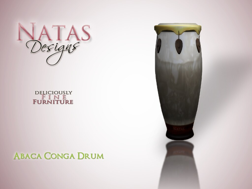 Abaca Conga Drum - August Group Gift!