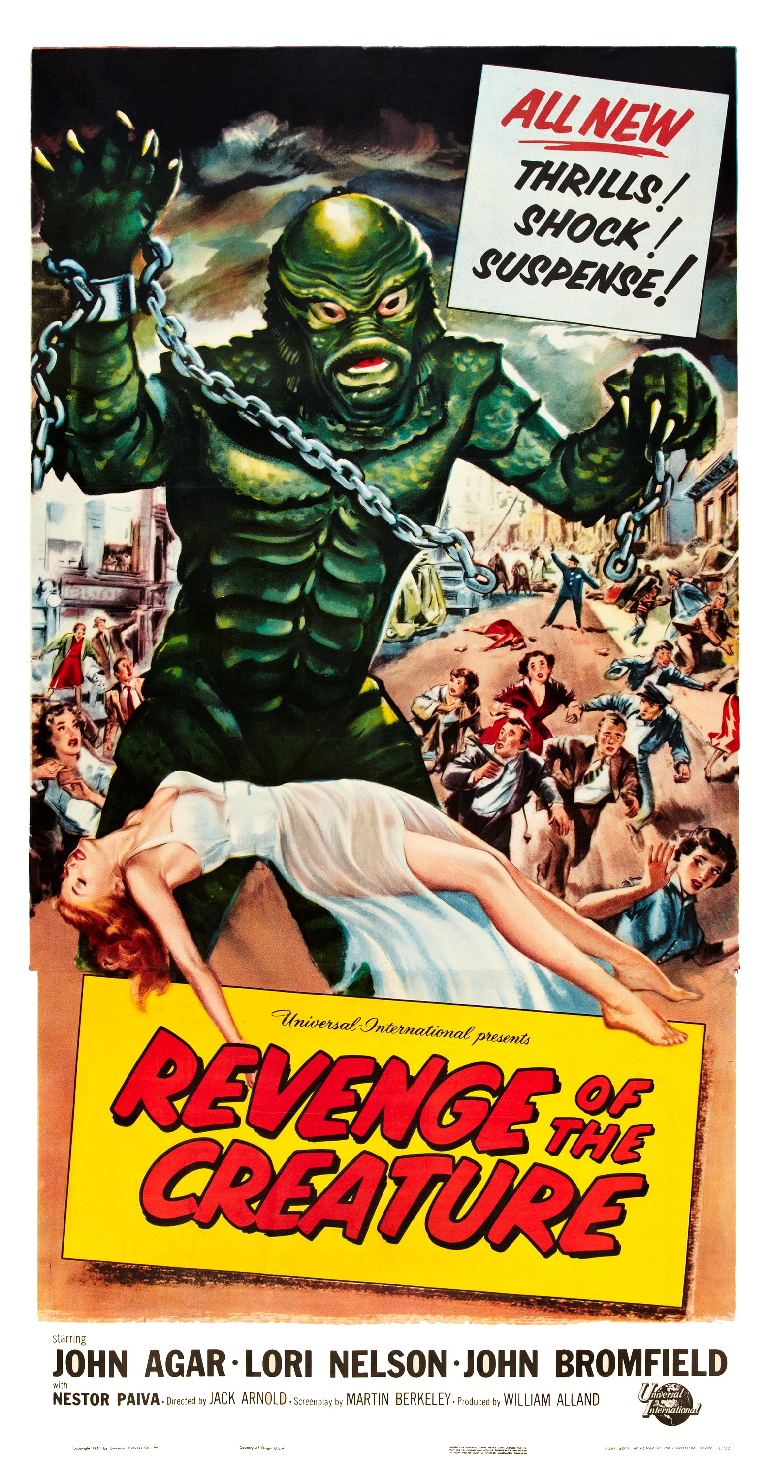 Reynold Brown - Revenge of the Creature (Universal International, 1955) three sheet 1