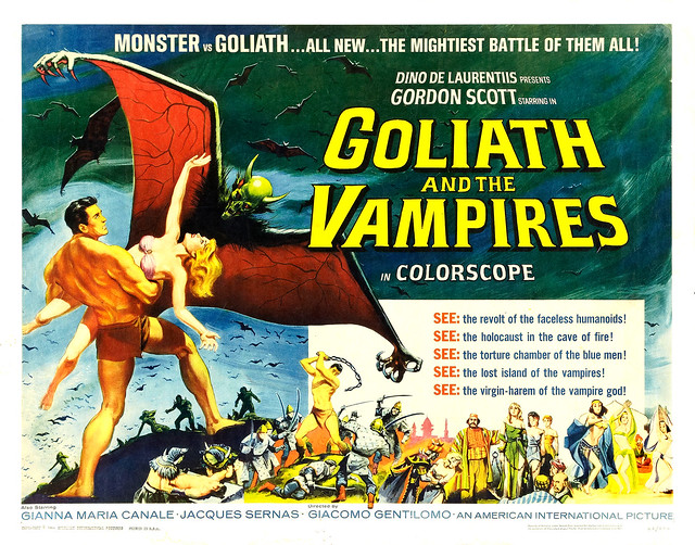 Reynold Brown - Goliath and the Vampires (American International, 1964) half sheet