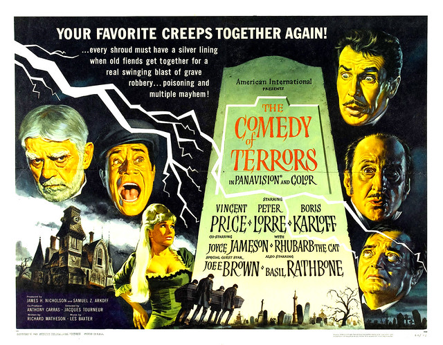 Reynold Brown - The Comedy of Terrors (American International, 1964) half sheet