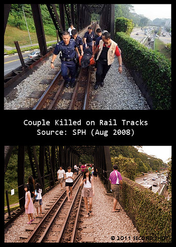 Couple Killed on Rail Tracks