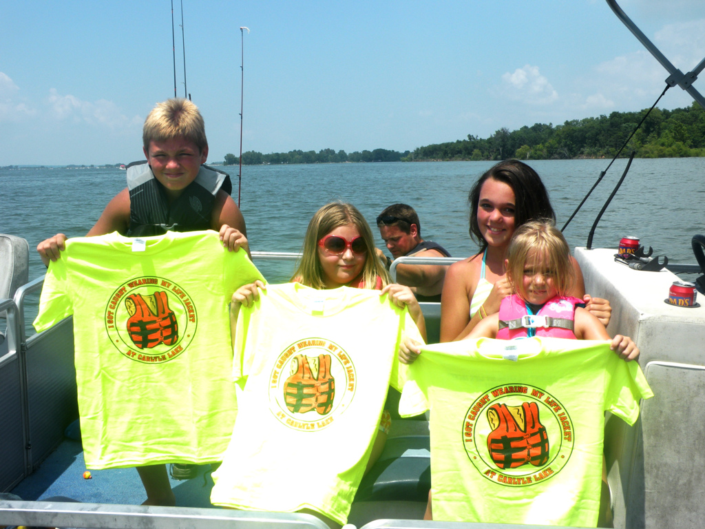 Children get caught on Carlyle Lake