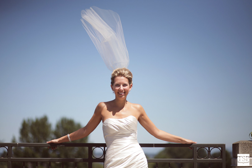 Windy Bride Portrait
