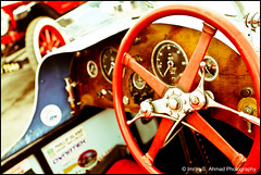 At the wheel (imran*) Tags: uk england surrey 7d gb 2008 classiccars steeringwheel vintagecars brooklands 2011 canon247028l surreylife canon7d canon24mm70mm28l canon24mm7028l