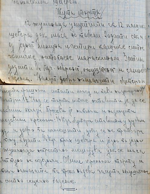 zuta torta rukopis