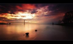 The Fog (scott masterton) Tags: road uk bridge light sunset sea mist weather fog scott scotland edinburgh long exposure pentax south gap forth fascinating masterton queensferry forthbridges haar sigma1020mm nd400 ndx400 k200d horizonislevel