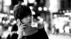 ~astonished soul~ (Cheo70) Tags: street blackandwhite bw woman japan asia bokeh   osaka namba  astonished  ohsaka naniwaku