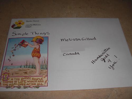 Letter sent to Melissa Gillard