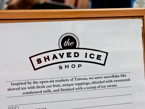 The Shaved Ice Shop sign