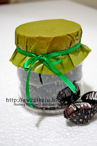Jar Ribbon Gift Set - Kurma Choc Badam