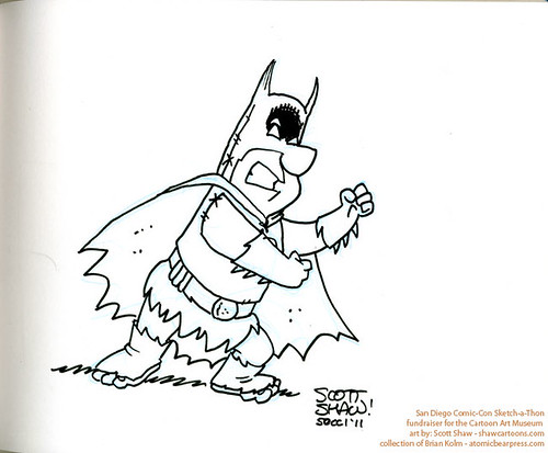 SDCC2011 art commission - Fred Flintstone as Batman