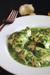 Fish with Salsa Verde (Adventuress Heart) Tags: fish healthy spain spanish perch garlic seafood recipes easy oliveoil parsley cod haddock hake salsaverde spanishrecipes