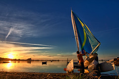 Hobie Cat (dubdream) Tags: ocean blue sunset sea seascape water germany landscape nikon meer sailing colours shorelines balticsea ostsee hobiecat hdr segeln schleswigholstein heiligenhafen explored d700 dubdream