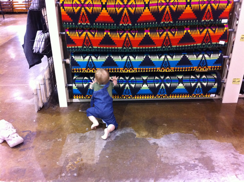 Everett shopping with me at Pendleton