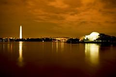 Jefferson Memorial (arch@jero) Tags: monument water night reflections washington memorial waterfront shots wide basin national rivers jefferson ultra tidal beautifulskies 1740mml canon7d